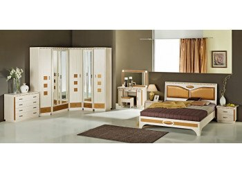 Модульная спальня Кэри голд (млечный дуб)