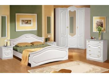 Модульная спальня  Орхидея (Белый полуглянец)