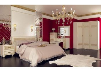 Модульная спальня Александрия (кожа ленто/рустика)