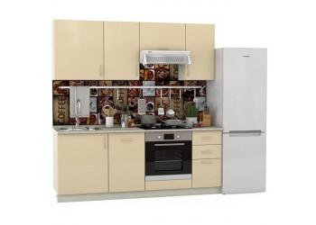 Модульная кухня Сандра ваниль/белый