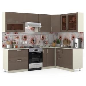 Модульная кухня Сандра капучино/белый