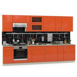 Модульная кухня Сандра манго/белый