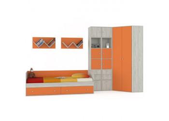 Модульная детская Тетрис оранжевый