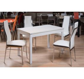 Кухонный стол Римини 1 (стекло оптивайт матовое)