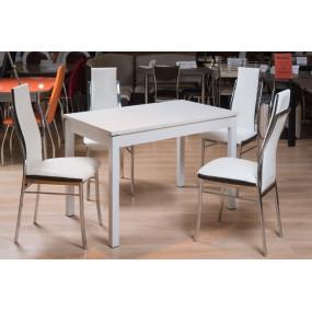 Кухонный стол Римини 2 (стекло оптивайт матовое)