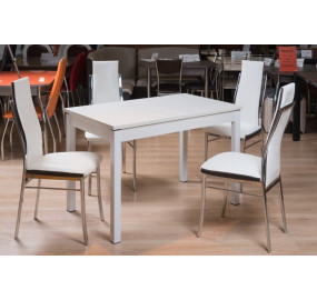 Кухонный стол Римини 3 (стекло оптивайт матовое)