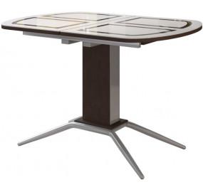 Кухонный стол со стеклом Петра 1