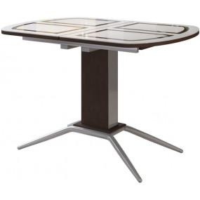 Петра 1 Кухонный стол со стеклом