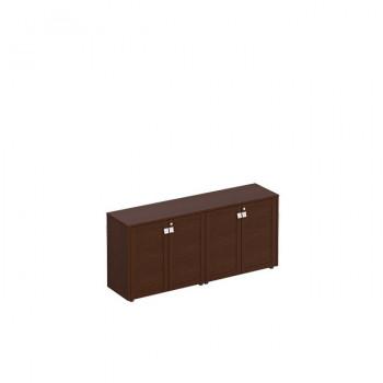 Премьер Шкаф для документов закрытый низкий (стенка из 2 шкафов)