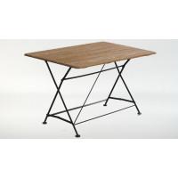 Стол прямоугольный 120 Ковка + Дуб