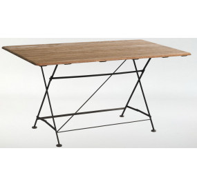 Стол прямоугольный 150 Ковка + Дуб
