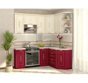 Виктория 20 Кухонный гарнитур угловой 14 (ширина 200x150 см)