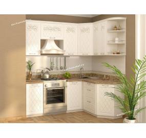 Тиффани-19 Кухонный гарнитур угловой 14 (ширина 200х150 см)