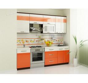 Оранж 9 Кухонный гарнитур 8 (ширина 230 см)