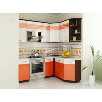 Оранж 9 Кухонный гарнитур угловой 14 (ширина 200х150 см)
