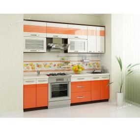 Оранж 9 Кухонный гарнитур 11 (ширина 240 см)