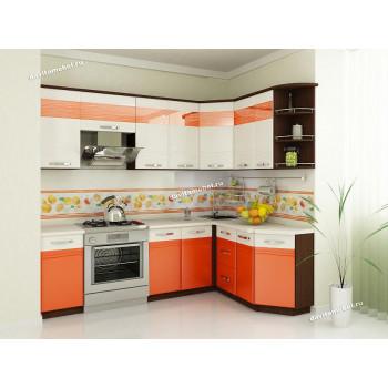 Оранж 9 Кухонный гарнитур угловой 16 (ширина 240х160 см)
