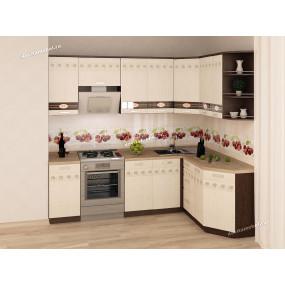 Аврора 10 Кухонный гарнитур угловой 16 (ширина 240х160 см)