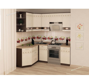 Аврора 10 Кухонный гарнитур угловой 15 (ширина 150х200 см)