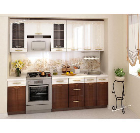 Кухонный гарнитур Каролина 13 (ширина 240 см)