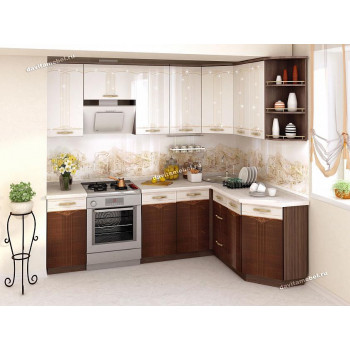 Каролина 11 Кухонный гарнитур угловой 16 (ширина 240х160 см)