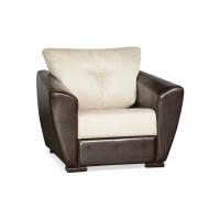 Кресло Andri раскладное бежевое экокожа / рогожка
