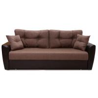 Диван Andri еврокнижка коричневый со спальным местом 150 см экокожа / рогожка
