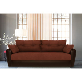 Диван Andri еврокнижка коричневый со спальным местом 160 см астра / экокожа