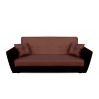 Диван Andri книжка коричневый со спальным местом 140 см