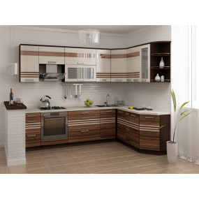 Рио 16 Кухонный гарнитур угловой 18 (ширина 280x190 см)