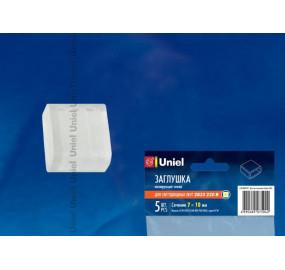 Изолирующий зажим для светодиодной ленты 3528 (10835) Uniel UCW-K10 CLEAR 005 POLYBAG