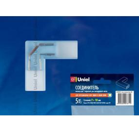 Соединитель L-образный для светодиодных лент 3528 Uniel (10821) UTC-K-22/A67-NNN CLEAR 005 POLYBAG