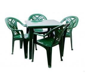 Комплект квадратный стол, кресла Престиж