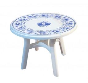 Пластиковый стол Премиум Гжель