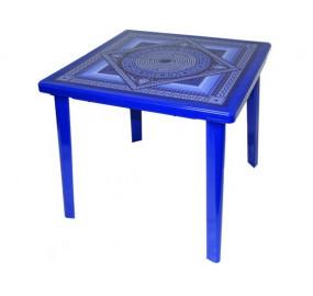 Стол квадратный с деколем Сапфир