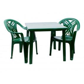 Комплект квадратный стол, 2 кресла Престиж