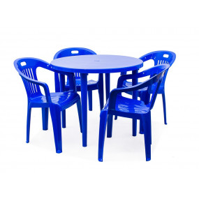Комплект 4 кресла Комфорт, круглый стол