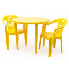 Комплект 2 кресла Комфорт, круглый стол