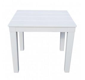 Столик для шезлонга Титан прямоугольный цвет белый