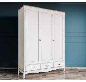 Шкаф Leontina для одежды трехстворчатый с ящиками