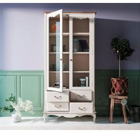 Шкаф-витрина Leontina для посуды четыре ящика
