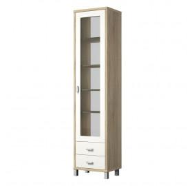 Шкаф с витриной Домино Сонома ВК-04-02