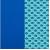 Синяя иск. кожа/бирюзовая ткань сетка