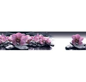 Пристеночная панель MSK Орхидеи на камнях