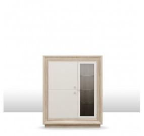 ГТ.0114.302 Прато Шкаф 3-х дверный (1 стеклодверь) 1175 низкий