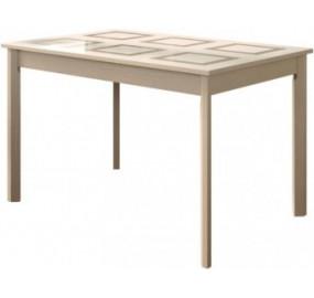Стол обеденный со стеклом Пуэрто мини
