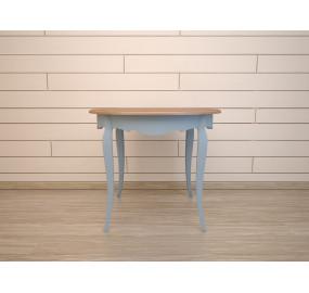 Круглый голубой стол обеденный