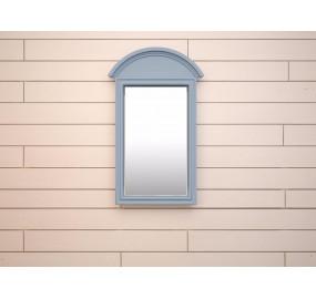 Зеркало прямоугольное Leontina голубого цвета