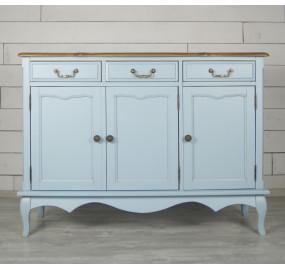 Голубой Комод Leontina (3 ящика и 3 двери)