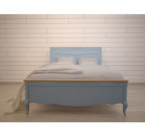 Голубая двуспальная кровать Leontina